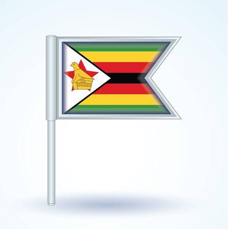 zimbabwe: Flag of Zimbabwe, vector illustration