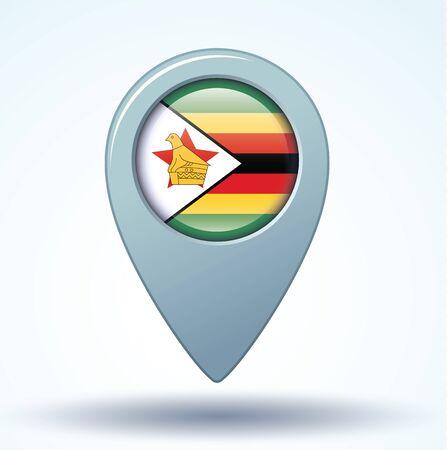 zimbabue: Bandera de Zimbabwe, ilustraci�n vectorial