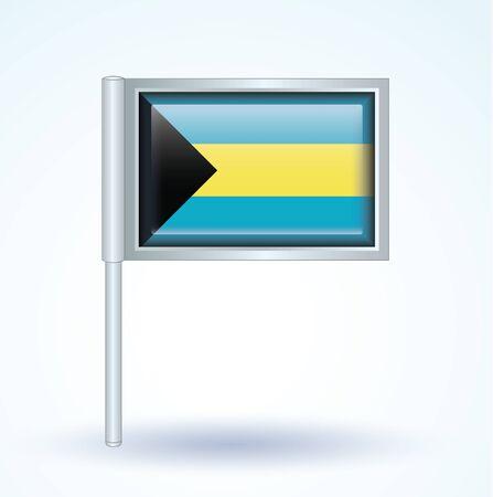 bahamas celebration: Flag of Bahamas, vector illustration