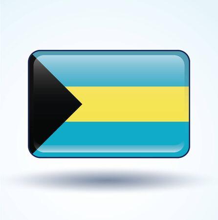 bahamas: Flag of Bahamas, vector illustration