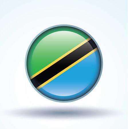 tanzania: Flag of Tanzania, vector illustration