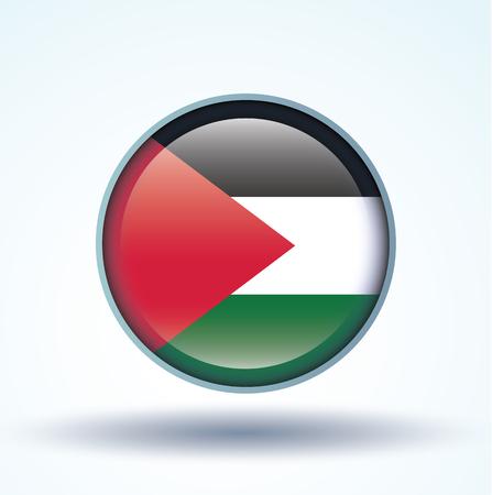 palestine: Flag of Palestine, vector illustration