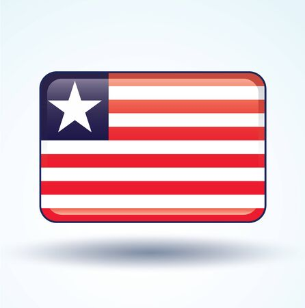 liberia: Flag of Liberia, vector illustration