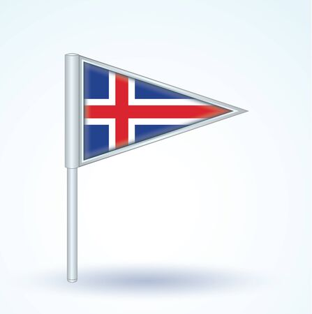 iceland: Flag of Iceland, vector illustration