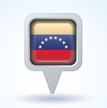 venezuela: Flag of Venezuela, vector illustration
