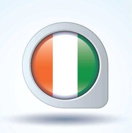 d: Flag of cote d ivoire, vector illustration Illustration