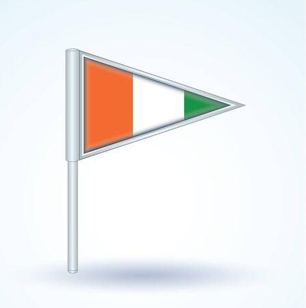 cote d ivoire: Flag of cote d ivoire, vector illustration Illustration