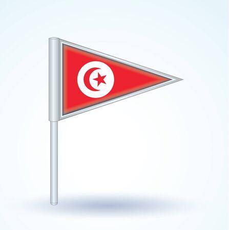 tunisia: Flag of Tunisia, vector illustration Illustration