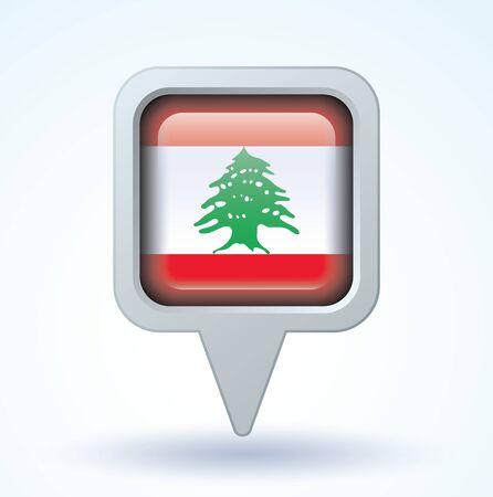 lebanon: Flag of Lebanon, vector illustration Illustration