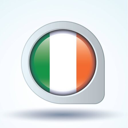 ireland flag: Flag of Ireland, vector illustration Illustration