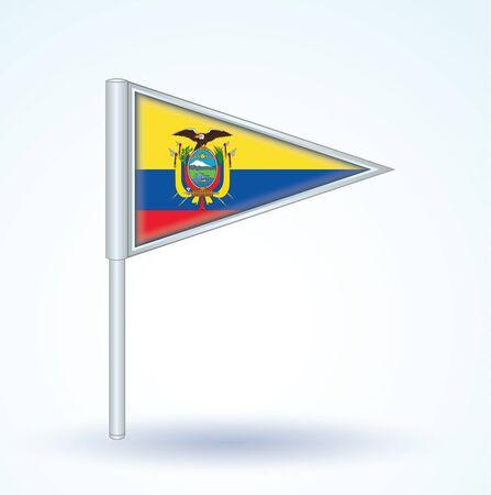 ecuador: Flag of Ecuador, icon collection, vector illustration Stock Illustratie