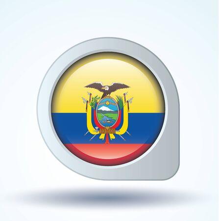 ecuador: Flag of Ecuador, icon collection, vector illustration Illustration