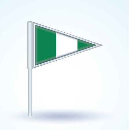 nigeria: Flag of Nigeria, vector illustration Illustration