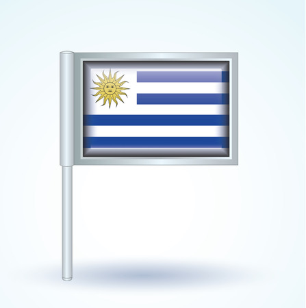 uruguay: Flag of Uruguay, vector illustration