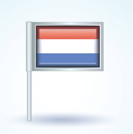 luxembourg: Flag of Luxembourg, vector illustration Illustration