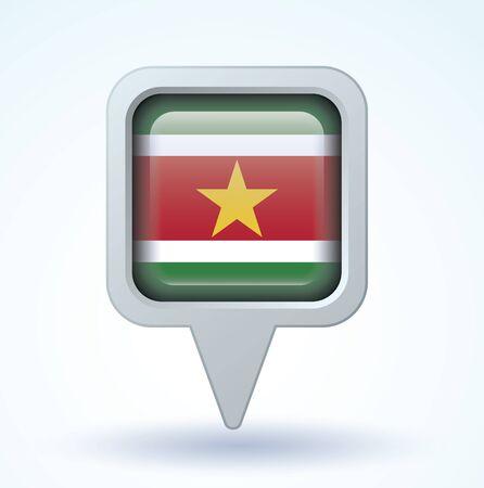 suriname: Flag of Suriname, vector illustration
