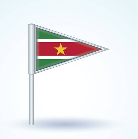 suriname: Flag of Suriname, vector illustration
