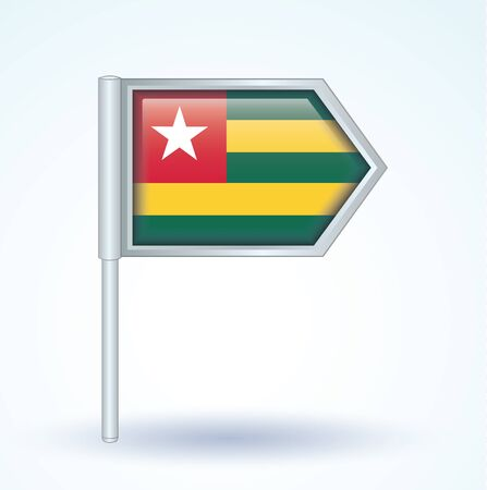 togo: Flag of Togo, vector illustration