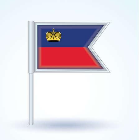 liechtenstein: Flag of Liechtenstein, vector illustration