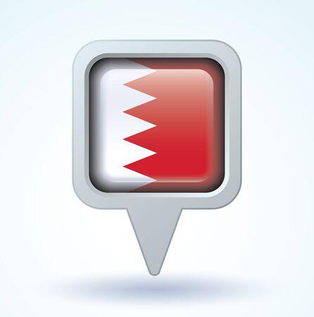 bahrain: Flag of Bahrain, vector illustration