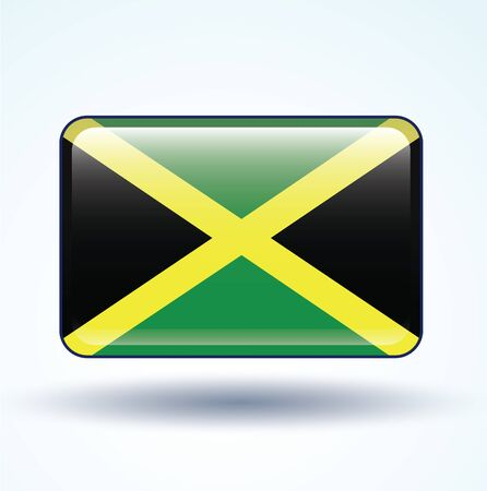 jamaica: Flag of Jamaica, vector illustration