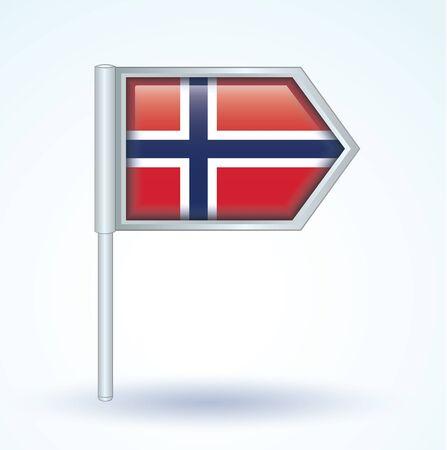 norway flag: Flag of Norway, vector illustration Illustration