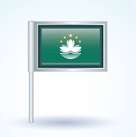 macao: Flag of Macao, vector illustration Illustration