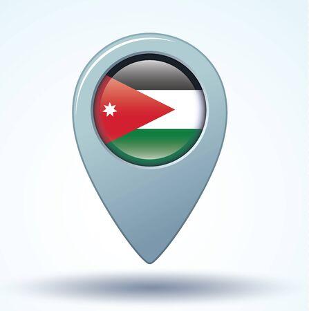 jordanian: Flag of Jordan, vector illustration Stock Illustratie
