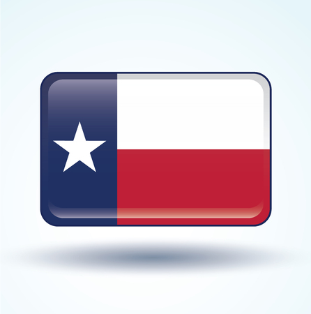 texas state flag: Flag of Texas, vector illustration Illustration