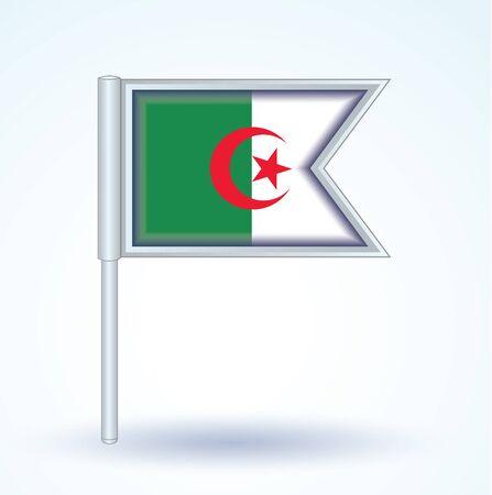 algeria: Flag of Algeria, vector illustration