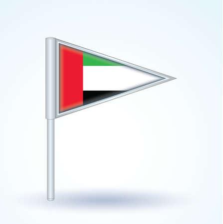 emirates: Flag of United Arab Emirates, vector illustration
