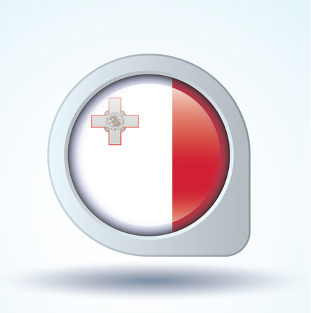 malta: Flag of Malta, vector illustration