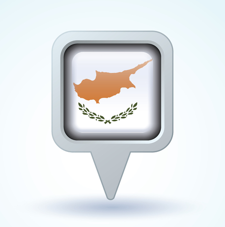 cyprus: Flag of Cyprus, vector illustration