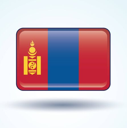 mongolia: Flag of Mongolia, vector illustration