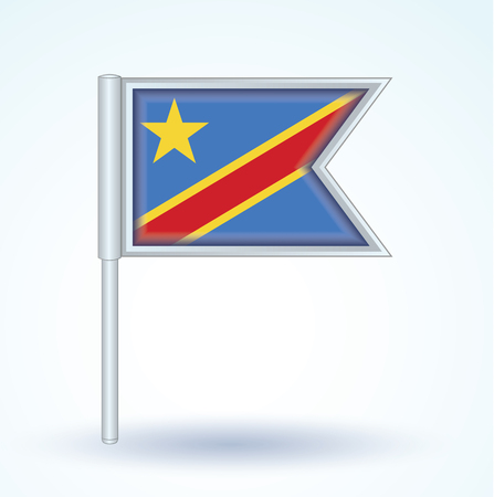 democratic: Flag of Democratic Republic of the Congo, vector illustration