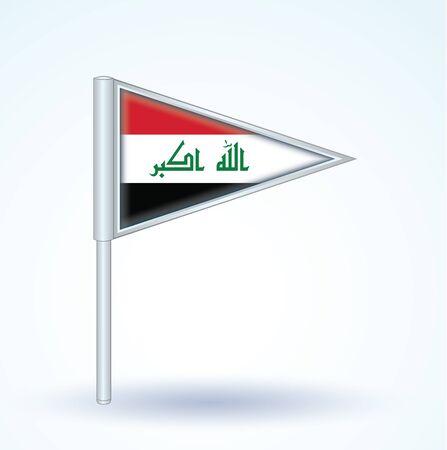 iraq: Flag of Iraq, vector illustration