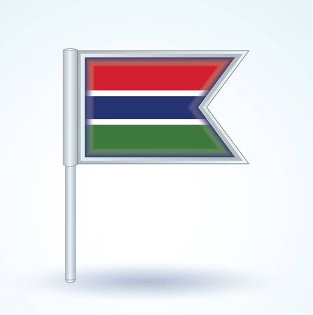 gambia: Flag of Gambia, vector illustration