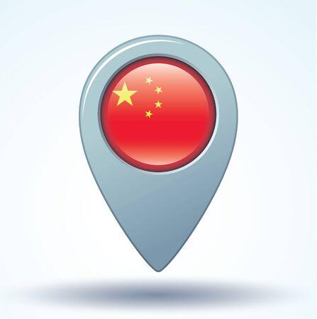 pointer: Flag of China, vector illustration