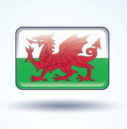 wales: Flag of Wales, vector illustration