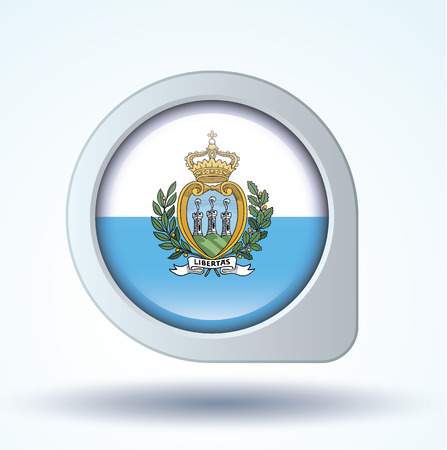 marino: Flag set of San Marino, vector illustration, icon collection
