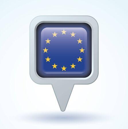 evropský: Flag of European union, vector illustration