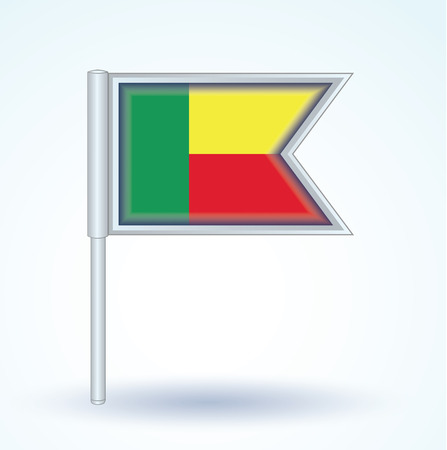 benin: Flag of Benin, vector illustration Illustration