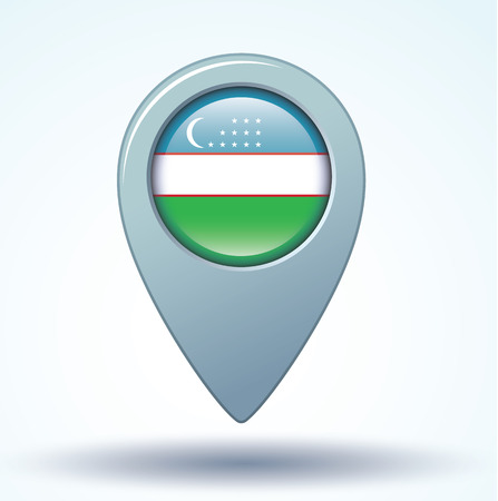 oezbekistan: Flag of Uzbekistan, vector illustration