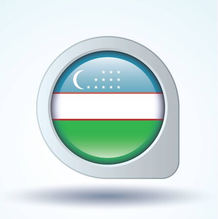 uzbekistan: Flag of Uzbekistan, vector illustration