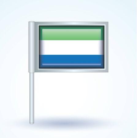 sierra: Flag of Sierra Leone, vector illustration