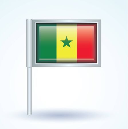 senegal: Flag of Senegal, vector illustration