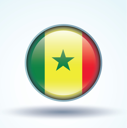 senegal: Flag of Senegal, vector illustration