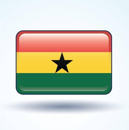 Ghana: Flag of Ghana, vector illustration Illustration