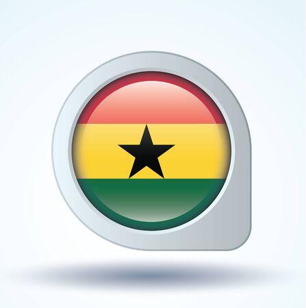 ghana: Drapeau du Ghana, illustration vectorielle Illustration