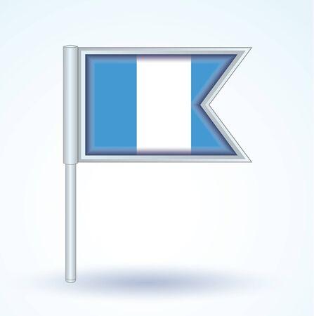guatemala: Flag of Guatemala, icon collection, vector illustration
